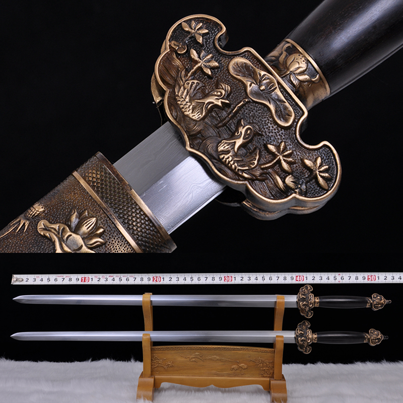 Longquan sword sword swords copper loaded yin and yang zhou handmade ancient to create the blade is not open to send gifts