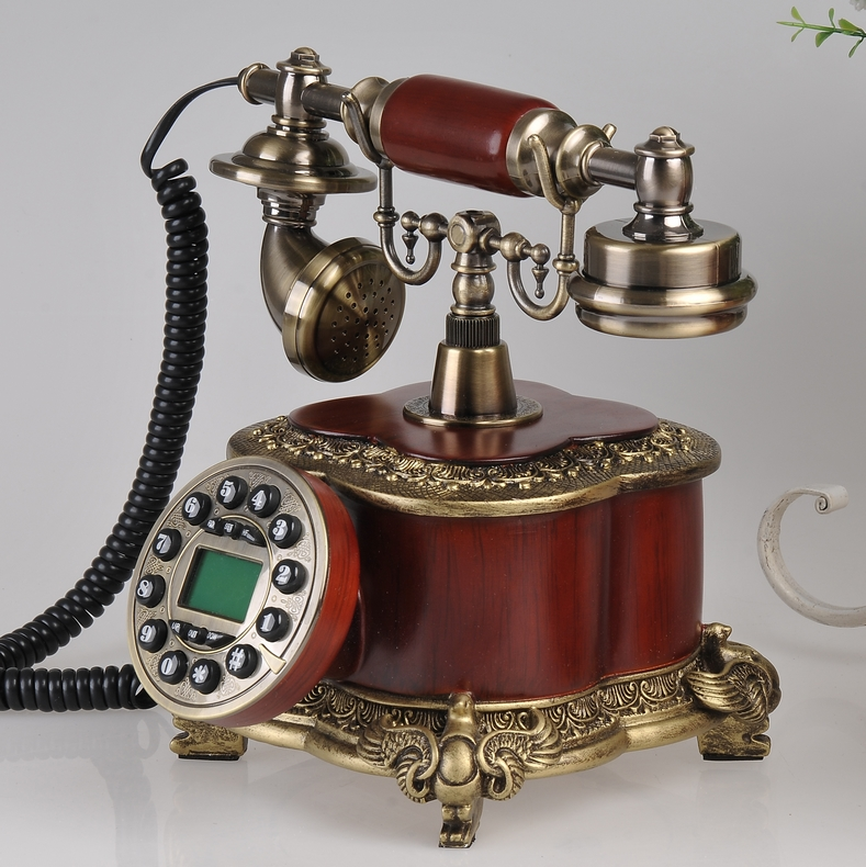 Look win european retro fashion creative home landline telephone antique telephone landline upscale craft boutique