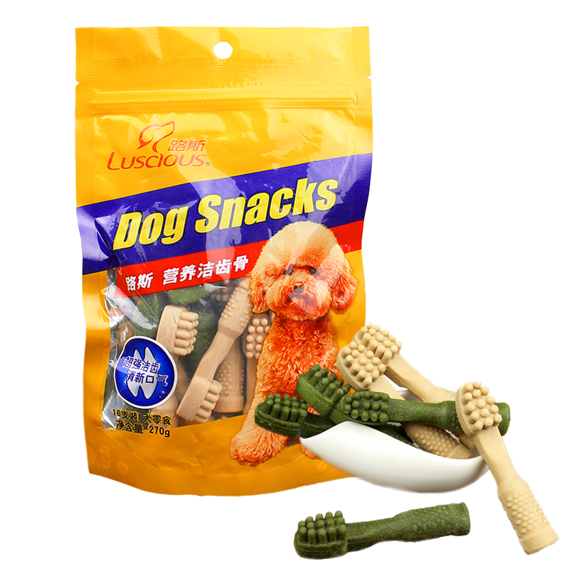 Loos dog treats pet tooth cleaning bone 270g nutrition bone dog teeth stick dog chews teddy golden retriever dog snacks
