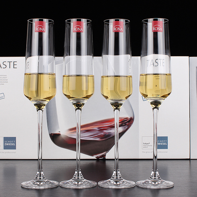 Lorna rona czech import unleaded crystal glass of sparkling wine glass wine goblet wine glass of champagne bubbles