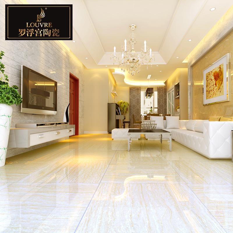 Louvre Tile Living Room Tv Backdrop Full Cast Glaze Floor Tiles Travertine 800800 Turkey