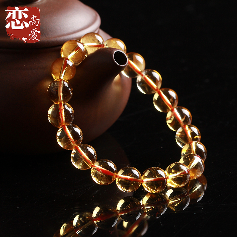 Love is still love brazilian natural citrine bracelet male and female models thick champagne yellow jewelry hand string of old customers welfare funds