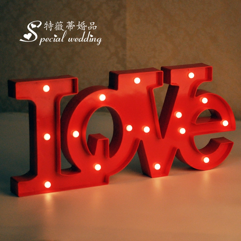 Love letters lights wedding wedding marriage room children's birthday party holiday decoration dessert tables and taiwan signed into taiwan decoration led lights