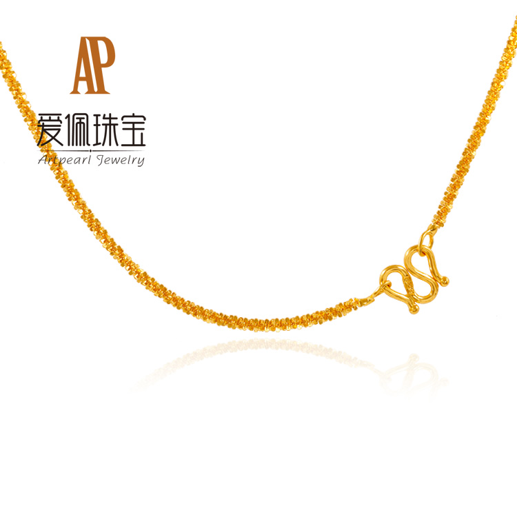 Love pei ap足金999 the fineness of gold jewelry gold necklace stars wedding gifts for investment purposes