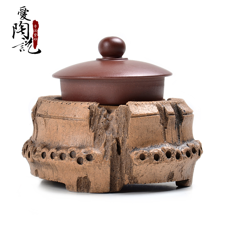 Love said tao authentic yixing purple clay tea yixing tea pet ornaments playing kung fu tea zhugen lid cover set