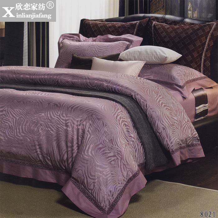 Love welcomes between european luxury bedding textile silk satin jacquard denim wedding XLX-36