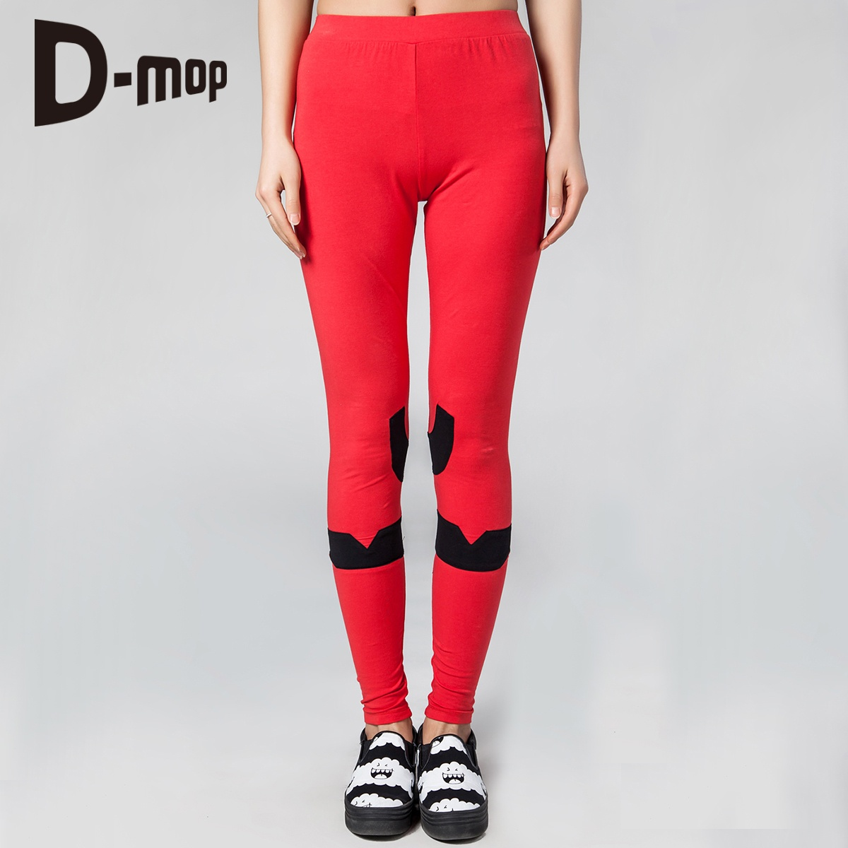 Loveis 2015 spring and summer women solid color leggings pants female feet pants tight knit PT329