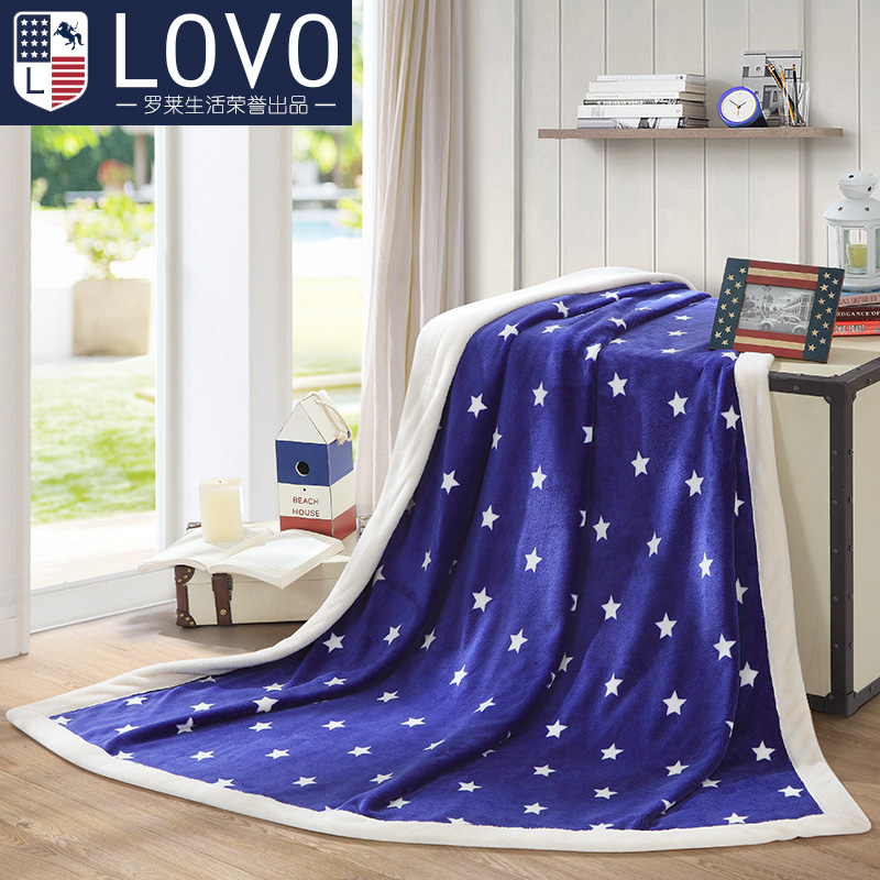 Lovo carolina textile produced american lucky double composite blanket air conditioning blanket blanket blanket blanket multi