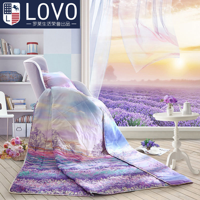 Lovo produced carolina textile cotton summer was cooler summer air conditioning is washable cotton quilt is single or double core