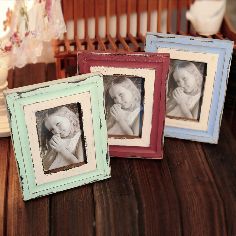 Lufthansa american country pastoral style is rui home accessories wood frame to do the old retro photo frame creative gifts