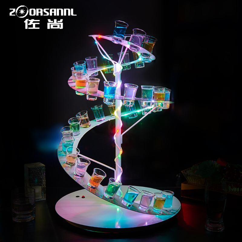 Luminous bar bullet cup holder cup holder creative beach cocktail cup holder wine rack creative fancy cocktail shaker rack 2016 of new