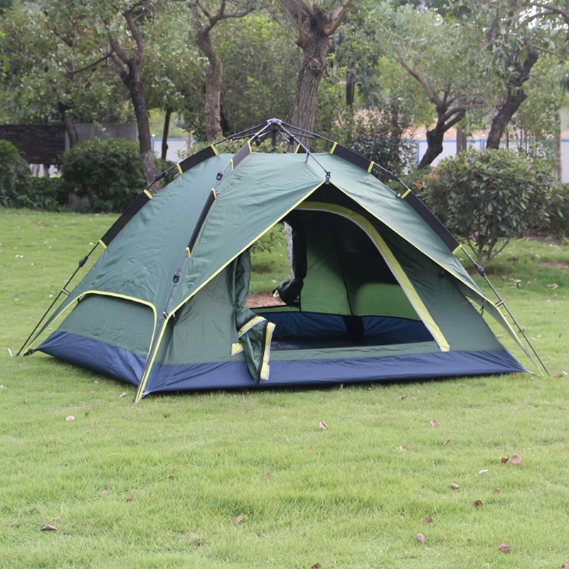 Lund wolf outdoor double bunk camping tent rain wild wild family automatic tent camp