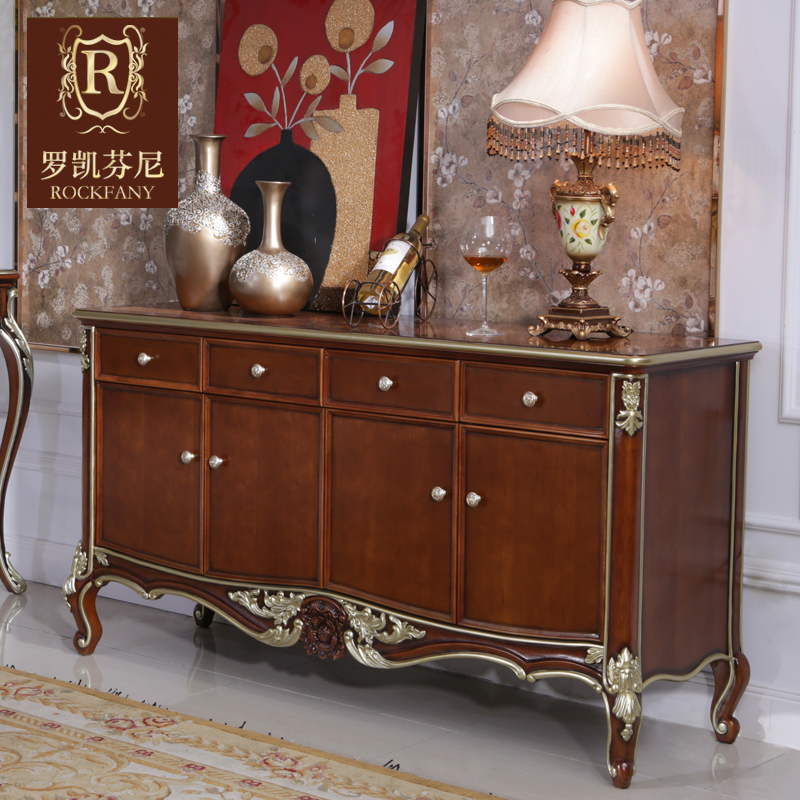 Luokaifenni american country furniture sideboard entrance cabinet neoclassical european solid wood storage cabinets lockers child c
