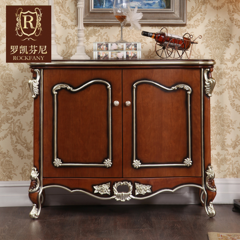 Luokaifenni american furniture american country european solid wood sideboard entrance cabinet neoclassical shoe a