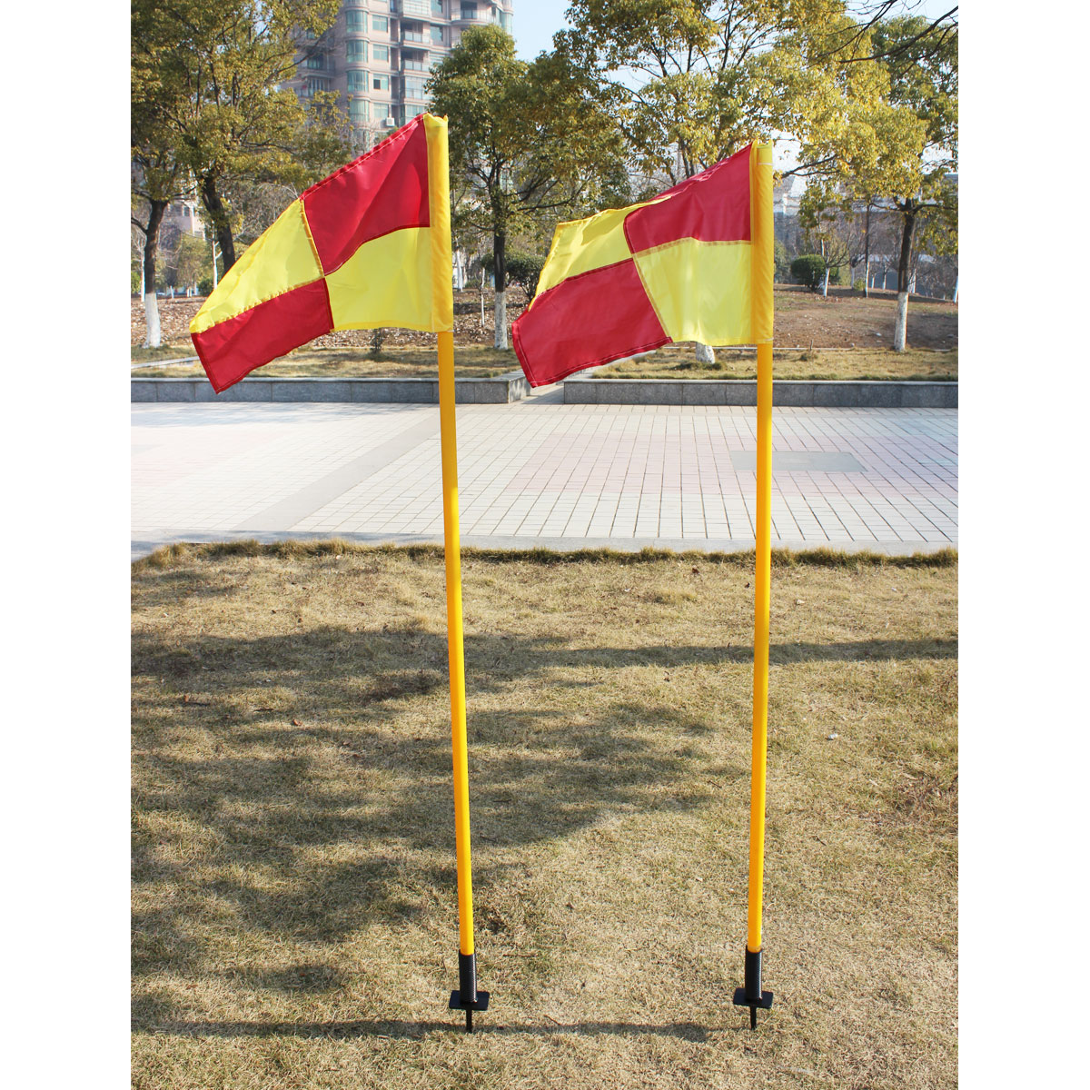 Luwint soccer corner flag inserting ground patrol the edge flag pole flag pole spring obstacle corner flag football referee