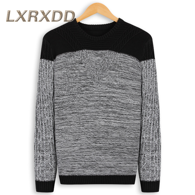 LXRXDD2016 new hit color men hedging autumn and winter round neck long sleeve sweater casual korean version of knitted sweaters 0450