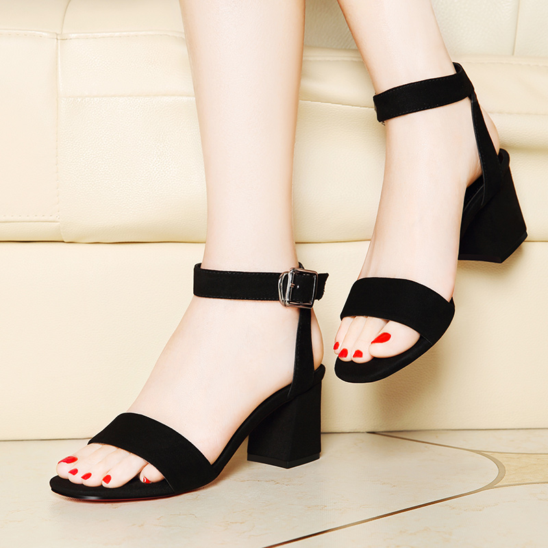 27803e5f173d2c Get Quotations · Lycra kington new summer shoes thick with high heels open  toe ankle strap sandals women shoes