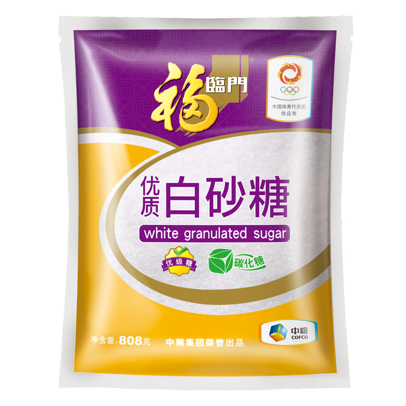 [Lynx] fortune supermarket quality white sugar 808g/bag of good quality in the food produced