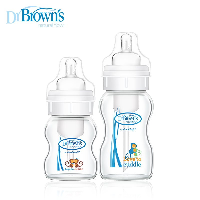 [Lynx supermarket] dr. brown wide mouth glass bottle newborn baby anti bloating set (crystal edition)
