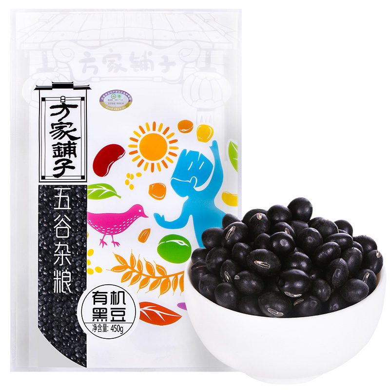 [Lynx supermarket] fang shop northeast organic black beans black beans organic cereals big black beans 450g