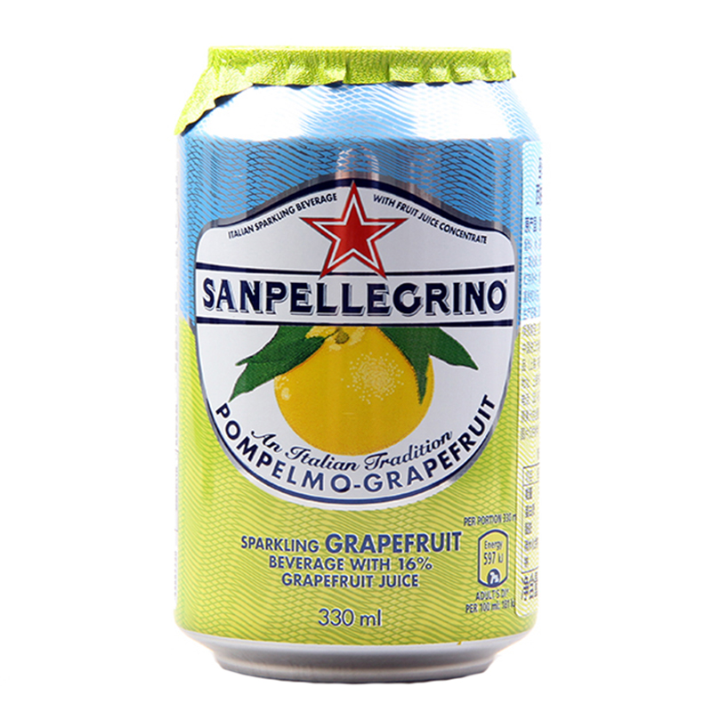 [Lynx supermarket] imported italian saint pellegrino juice drink grapefruit flavor material 330 ml/ Cans of carbonated