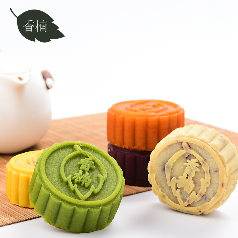 [Lynx supermarket] matcha green tea + flower + + purple potato mango cranberry + egg yolk moon cake moon cake 5 loaded autumn Moon cake moon cake