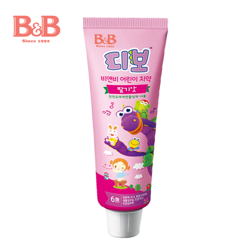 [Lynx supermarket] south korea imported b & b/boryeong infant child toothpaste strawberry flavor fluoride