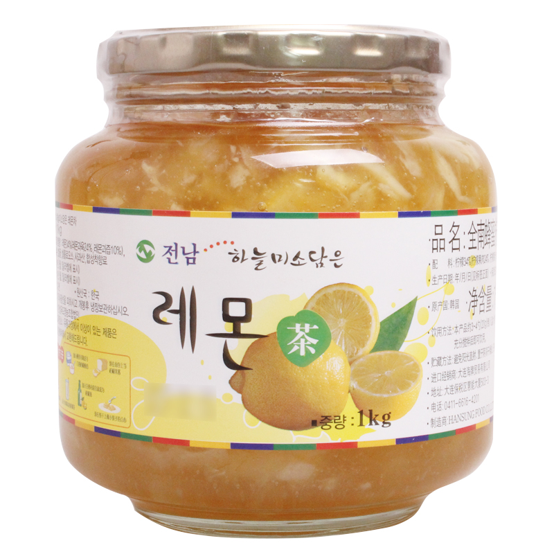 [Lynx supermarket] south korea imported chonnam honey lemon tea brewed into tea 1 kg imported