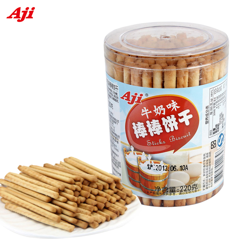 [Lynx supermarket] taiwan aji flavor milk flavored biscuit bang bang 220g µg/box snack to a fine of $