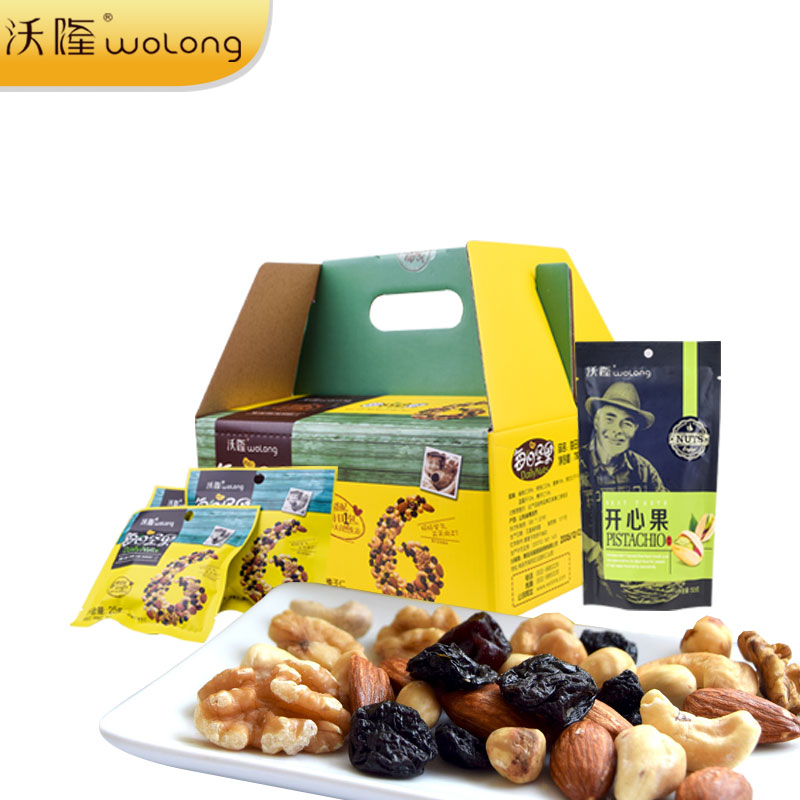 [Lynx supermarket] wolong daily nuts spree open heart fruit flavor of roasted specialty snack boxes for children