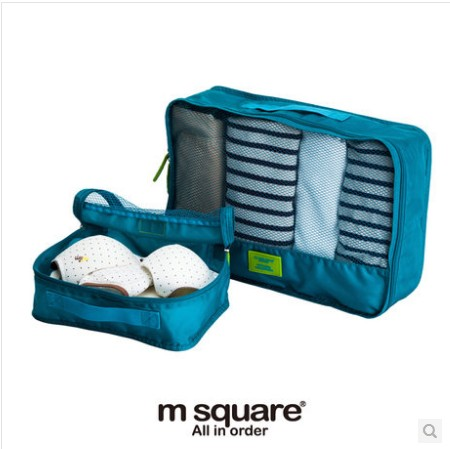M square business travel finishing bag waterproof zipper mesh multifunction pouch bag travel bag