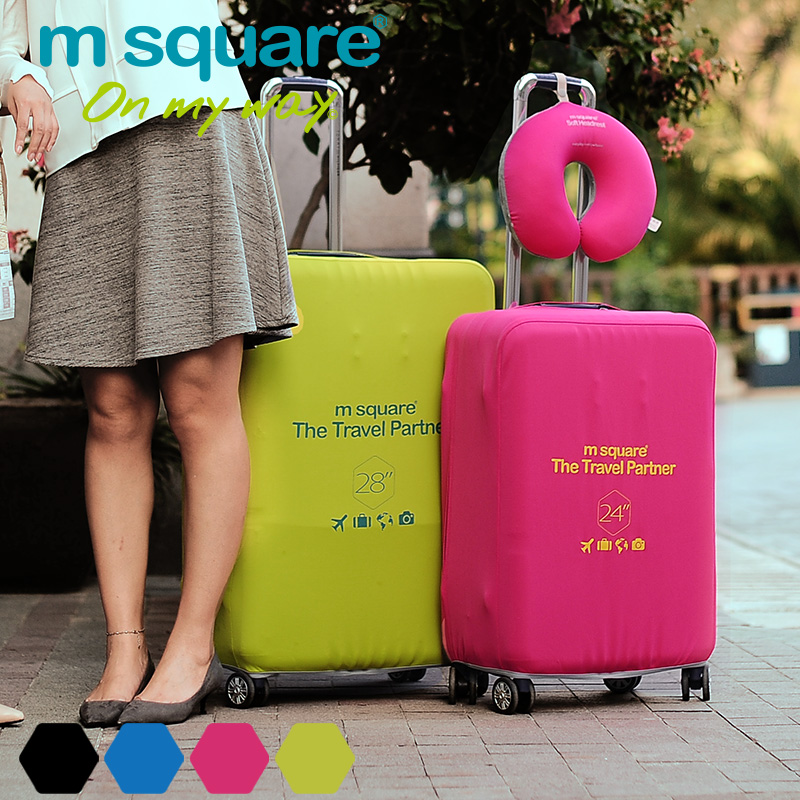 M square flexible wearable luggage sets luggage trolley case suitcase sets luggage sets protective sleeve 24 inch 28 Inch