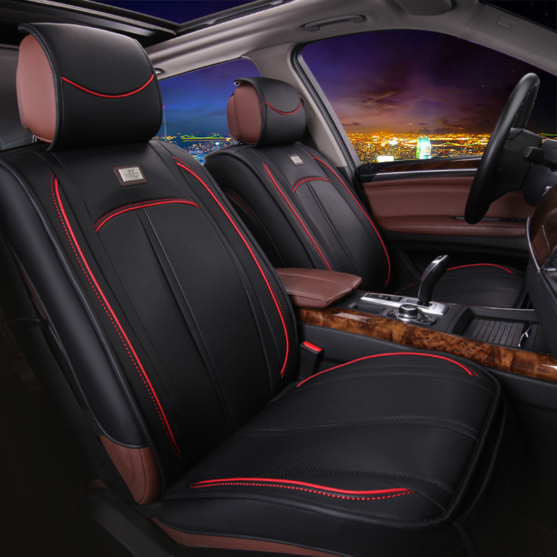 Get Quotations Machine Knitting Pu Leather Car Seat Cushion Summer New Four Seasons General All Inclusive