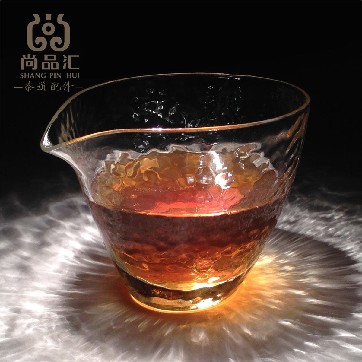 Made in japan carpenter hammer head pattern evenly cup handmade glass fair cup of tea ceremony with zero tea tea tea sea crystal metric Cup
