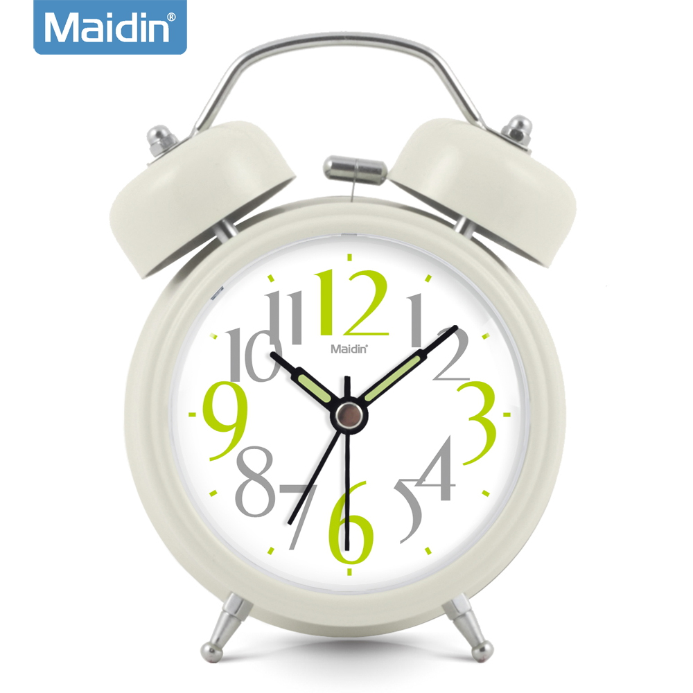 Madine creative mute alarm clock luminous electronic clock bedside clock lazy little alarm bell alarm clock children 970