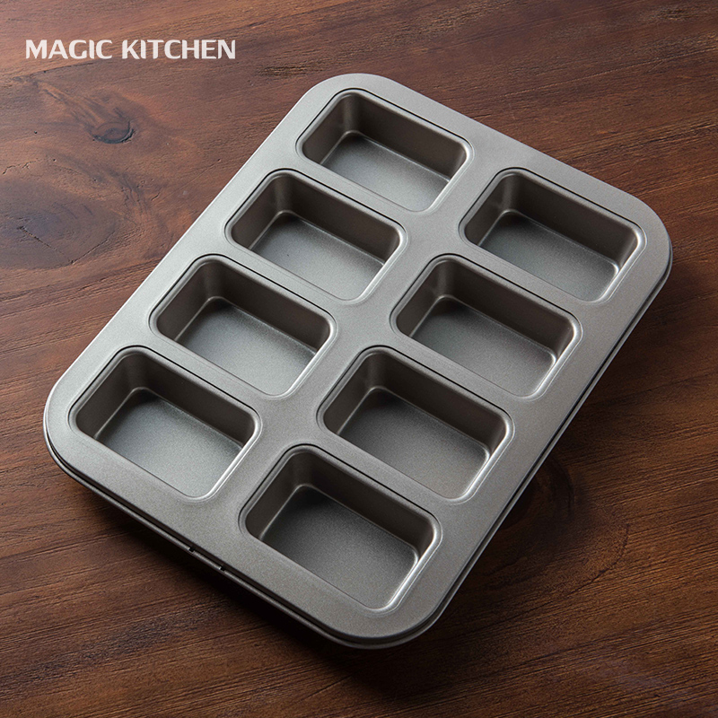 Magic kitchen heavy steel nonstick cake mold black mold golden nonstick baking mold toast toast bread mold