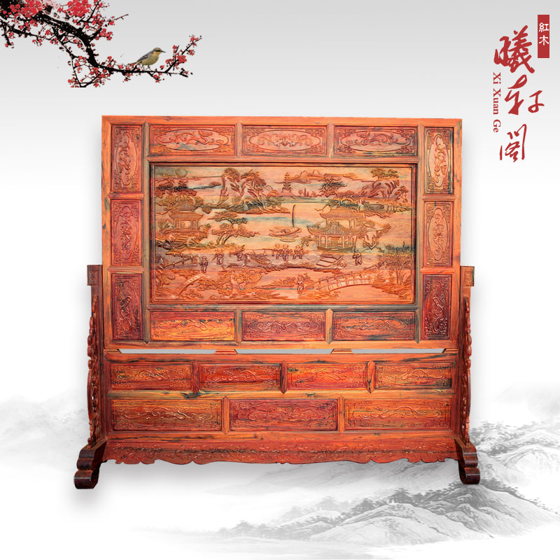Mahogany furniture/chinese antique mahogany red rosewood furniture screen/red wood wall