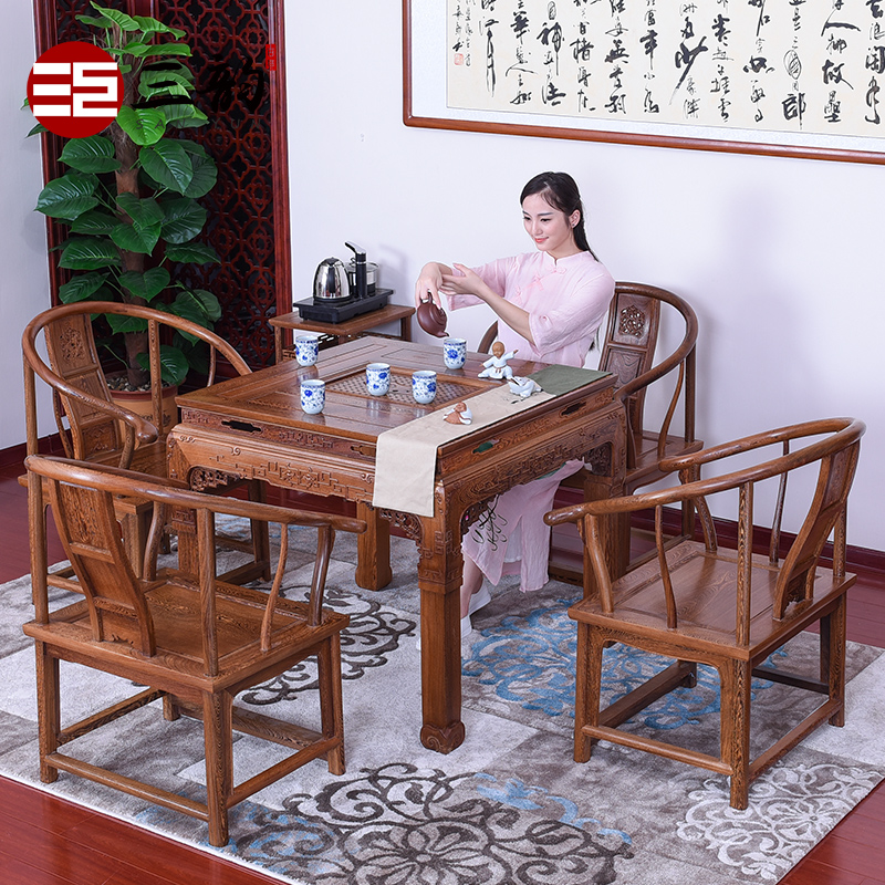 Mahogany furniture/wenge tea table/antique wood furniture tea table tea table tea table/qualities of red wooden tea table 5 sets