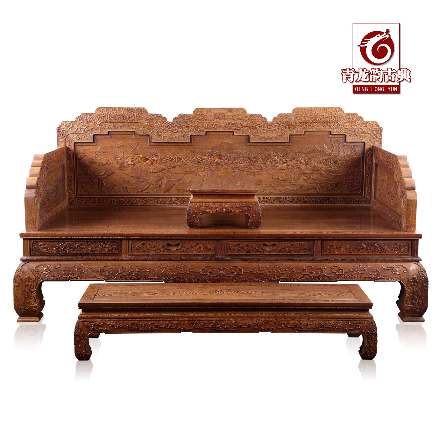 Get Quotations Mahogany Furniture Wenge Wood Ming And Qing Clical Chinese Antique Carved Small Ocean Bed