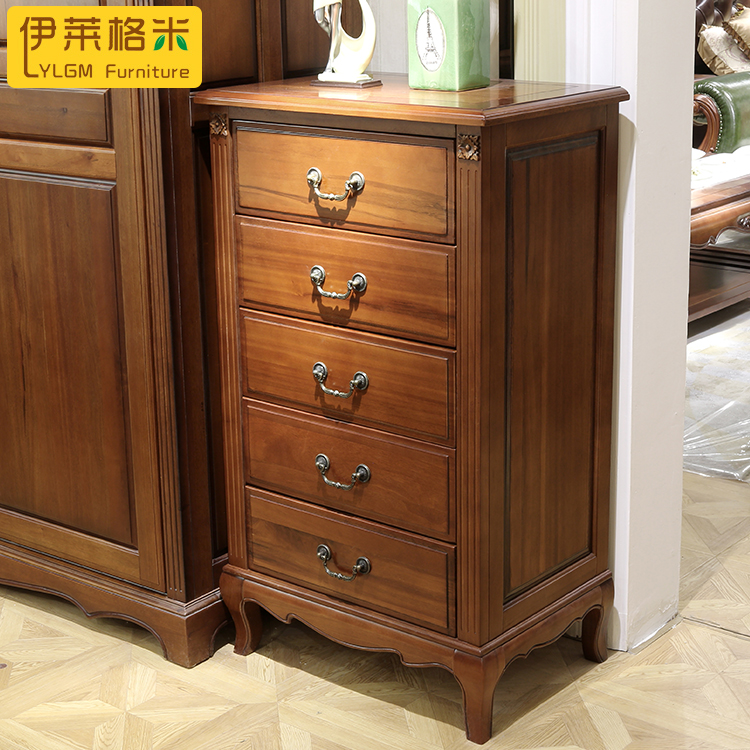 Mahogany wood pure solid wood american wood chest of drawers three doo doo cabinet wood storage cabinets Curio cabinet