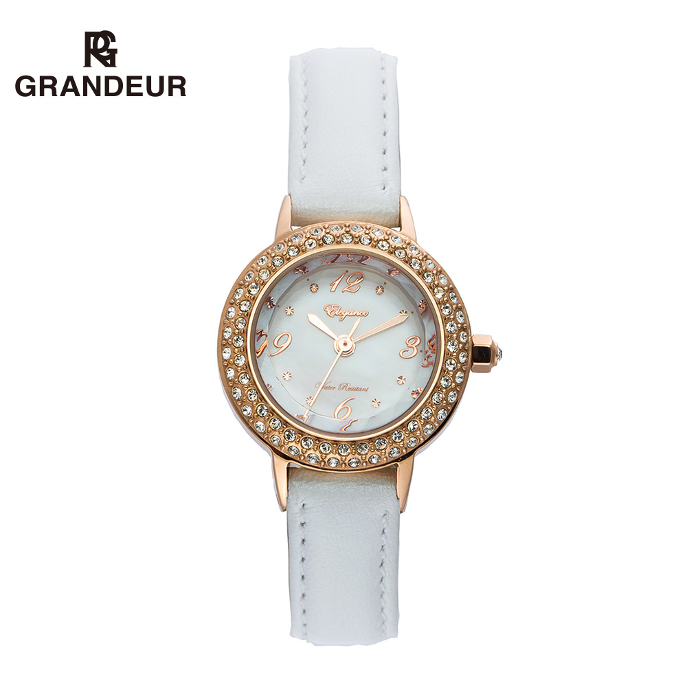 Mai luo qi grandeur genuine imported from japan quality waterproof quartz watch really belt fashion watch female students