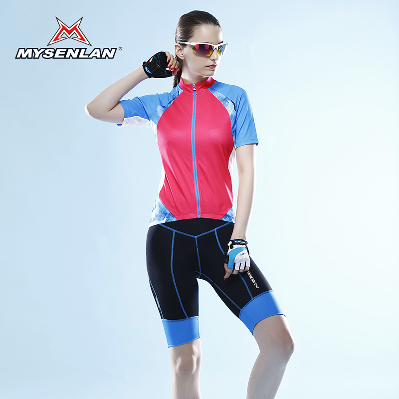 Mai senlan new summer bike riding mountain bike riding clothes suit women's short sleeve t-shirt shorts passion