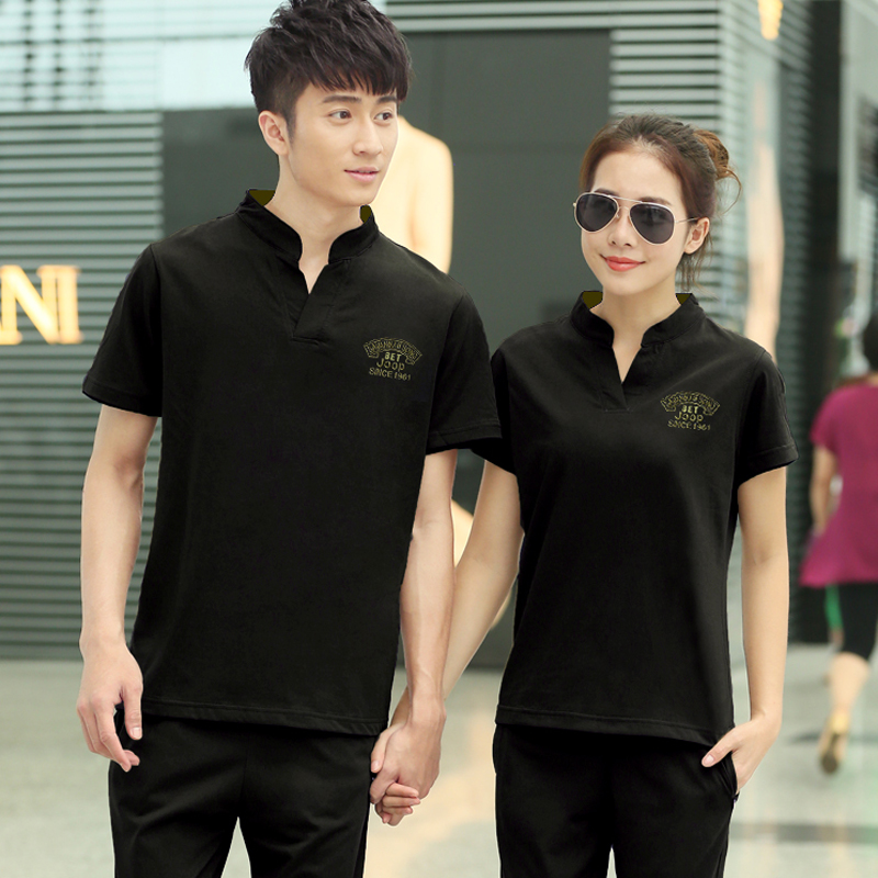 Male and female models new summer fashion casual sports t-shirt large size small yards short sleeve t-shirt lovers genuine mail