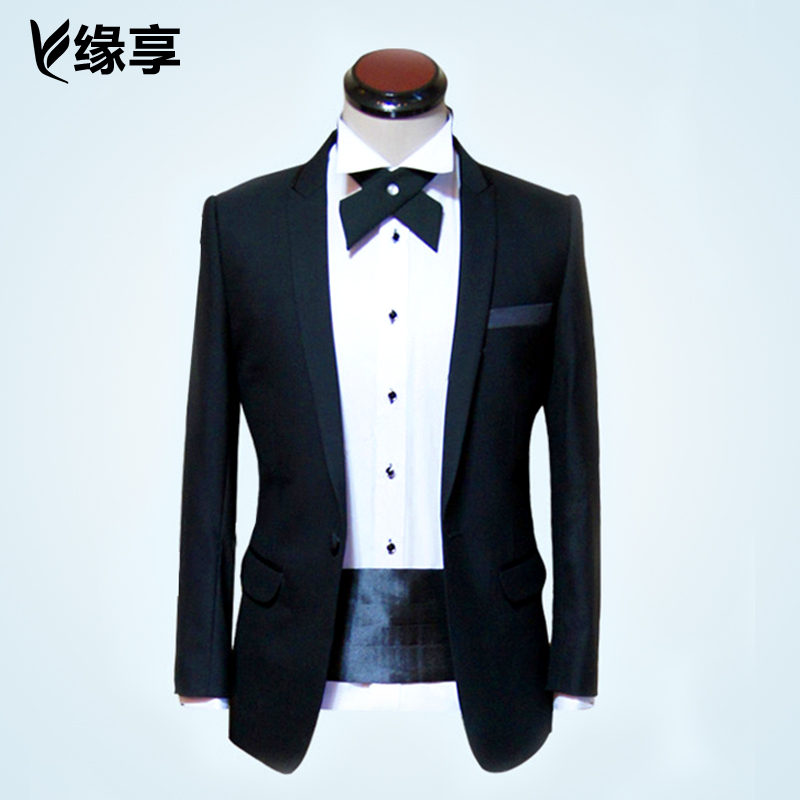 Male suit suit the groom wedding dress suits custom suits custom-made suit male korean dress with disabilities