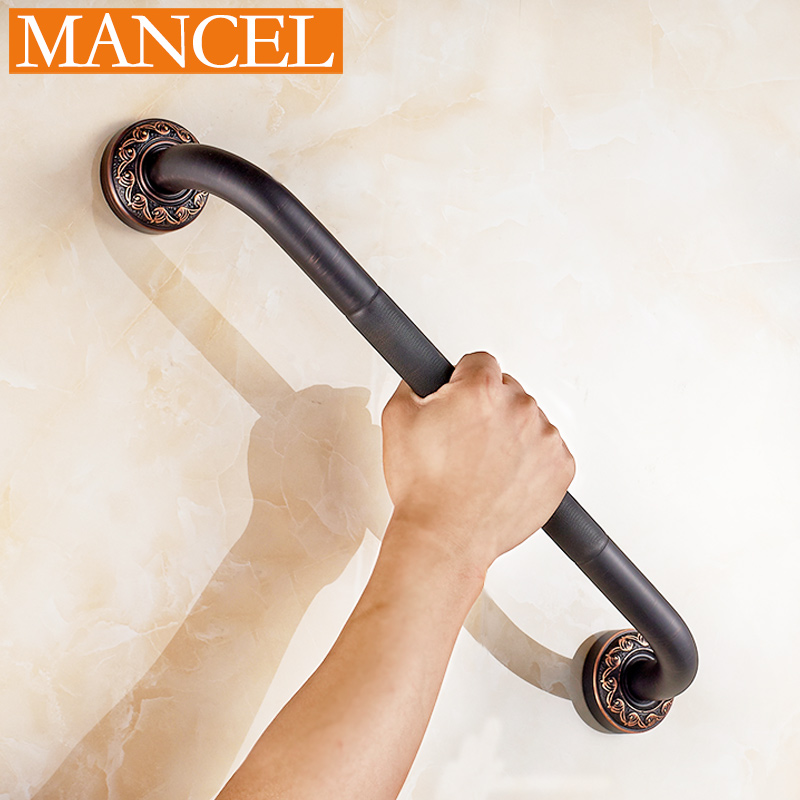Man pose bathroom full copper bathtub grab bars in bathroom black slip toilet handle security door handle doorknob european