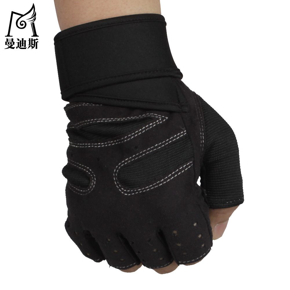 Fingerless gloves climbing - Get Quotations Mandys Spring And Summer Thin Fingerless Cycling Gloves Slip Resistant Outdoor Climbing Gym Climbing Sports Half