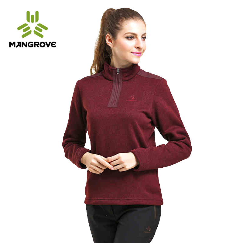 Mange fu mangrove outdoor fleece women hedging collar fashion casual breathable fleece warm clothes woman