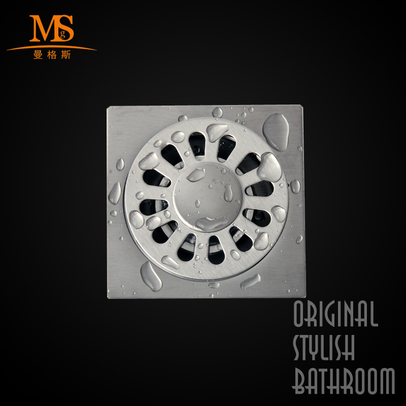 Manggis bathroom kitchen bathroom floor drain 304 brushed stainless steel floor drain floor drain odor pest