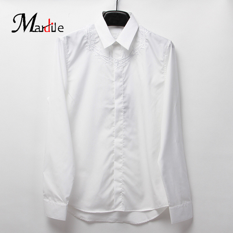 Mardile custom spring and summer 2016 new slim european and american men's long sleeve shirt men's fashion tops