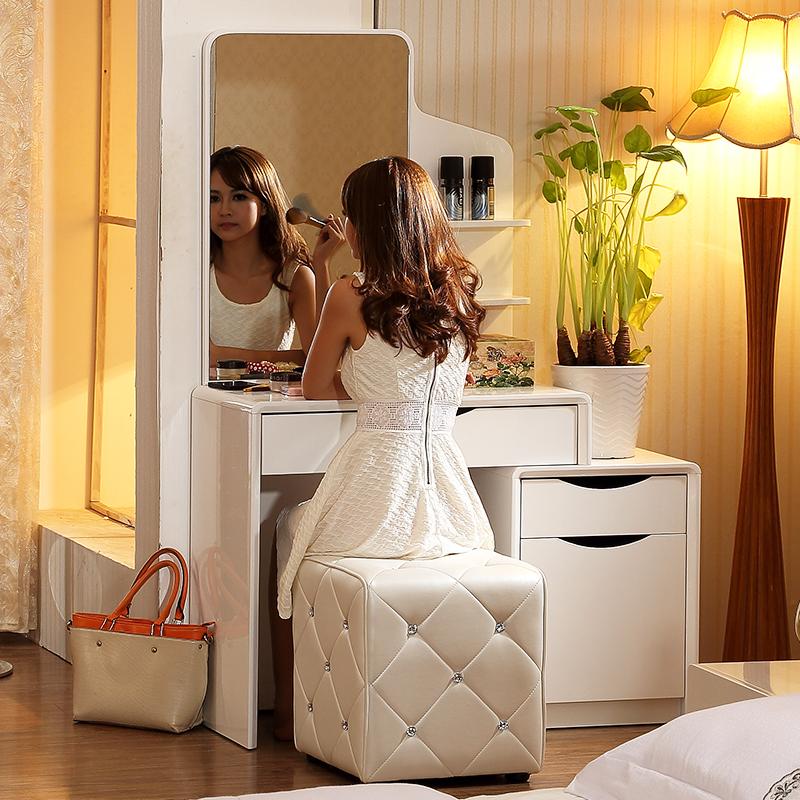Get Quotations · Markov wongtee modern minimalist fashion paint retractable  small apartment bedroom dresser dressing table mirror combination